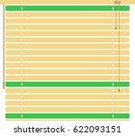 window sun blind brown vector... | Shutterstock .eps vector #622093151
