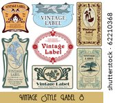 vintage style labels on... | Shutterstock .eps vector #62210368