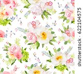 pretty summer garden seamless... | Shutterstock .eps vector #622104575