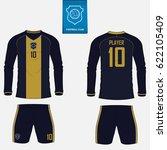 set of soccer kit or football... | Shutterstock .eps vector #622105409