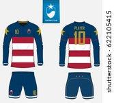 set of soccer kit or football... | Shutterstock .eps vector #622105415