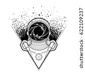 graphic astronaut with black...   Shutterstock .eps vector #622109237