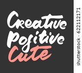 creative. positive. cute.... | Shutterstock .eps vector #622112171