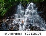 beautiful happy woman travel in ... | Shutterstock . vector #622118105