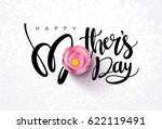 happy mother's day calligraphy... | Shutterstock .eps vector #622119491