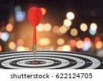 target dart with arrow over... | Shutterstock . vector #622124705