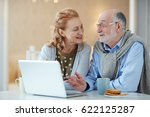 contemporary seniors discussing ... | Shutterstock . vector #622125287