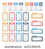 set of infographic templates... | Shutterstock .eps vector #622134245