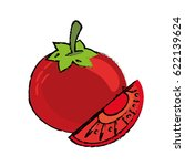 tomato slice food diet healthy | Shutterstock .eps vector #622139624