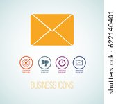 vector business icon in the... | Shutterstock .eps vector #622140401