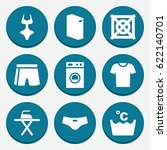 Set Of 9 Clothes Filled Icons...
