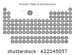 periodic table of the elements... | Shutterstock .eps vector #622145057
