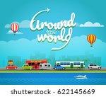 travel vector illustration.... | Shutterstock .eps vector #622145669