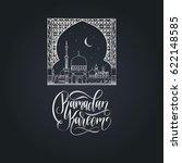 ramadan kareem greeting card... | Shutterstock .eps vector #622148585