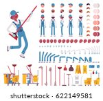male janitor character creation ... | Shutterstock .eps vector #622149581