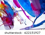 abstract watercolor texture.... | Shutterstock . vector #622151927