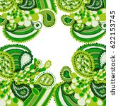 Raster Color Green Pattern Wit...