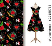 women dress fabric pattern... | Shutterstock .eps vector #622155755