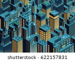 cityscape of night new york.... | Shutterstock .eps vector #622157831
