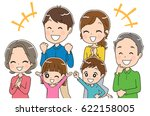 three generations family is... | Shutterstock .eps vector #622158005