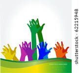 photo of clapping hands. vector ... | Shutterstock .eps vector #62215948
