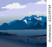 background with mountain... | Shutterstock .eps vector #622159769
