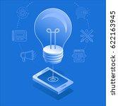 vector illustration and... | Shutterstock .eps vector #622163945