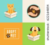 vector icons in flat style  ... | Shutterstock .eps vector #622164854