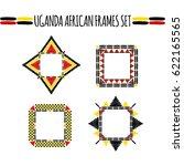 tribal frames set vector.... | Shutterstock .eps vector #622165565