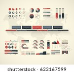 timeline vector infographic.... | Shutterstock .eps vector #622167599