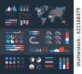 world map infographic. vector... | Shutterstock .eps vector #622168379