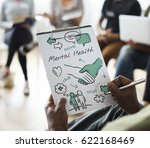 mental health care sketch... | Shutterstock . vector #622168469