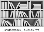 Abstract Bookshelf And Many...