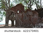 ruins of abandoned old british... | Shutterstock . vector #622173401
