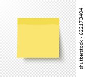 yellow sticky note isolated on... | Shutterstock .eps vector #622173404