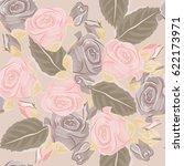 seamless monochrome pattern... | Shutterstock .eps vector #622173971