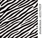 Seamless Pattern Zebra. Black...