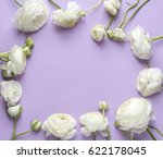 Stock photo floral composition with flower background 622178045