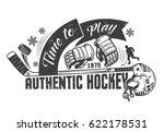 hockey monochrome concept... | Shutterstock .eps vector #622178531
