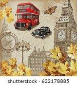london vintage poster. | Shutterstock . vector #622178885