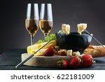 gourmet swiss fondue dinner... | Shutterstock . vector #622181009