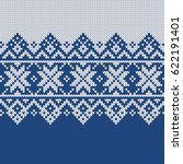norway festive sweater fairisle ... | Shutterstock .eps vector #622191401