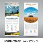 set of vertical roll up banners ... | Shutterstock .eps vector #622191971