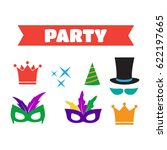 party birthday photo booth... | Shutterstock . vector #622197665