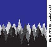 wild coniferous forest... | Shutterstock . vector #622199255