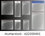 transparent plastic pocket bags ... | Shutterstock .eps vector #622200401