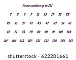 Prime Numbers Up To 152