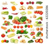 collection vegetables isolated... | Shutterstock . vector #62220286