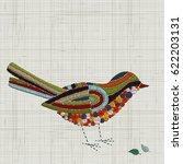 embroidery bird. vector... | Shutterstock .eps vector #622203131