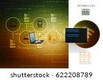 3d rendering computer network | Shutterstock . vector #622208789